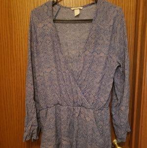 H&M- Size 10 Long Sleeved short romper